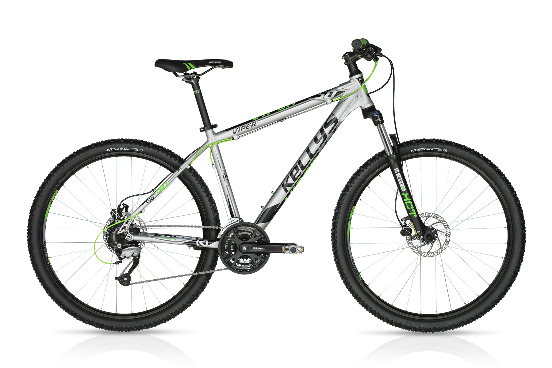 Велосипед Kellys Viper 50 Silver Green (27.5˝) 15.5˝ - Велосипед Ком