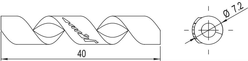 Захист рами Alligator від тертя рубашок Spiral (4/5 мм) фіолетовий