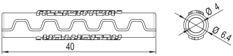 Захист рами Alligator від тертя рубашок Sawtooth (4 мм) чорний