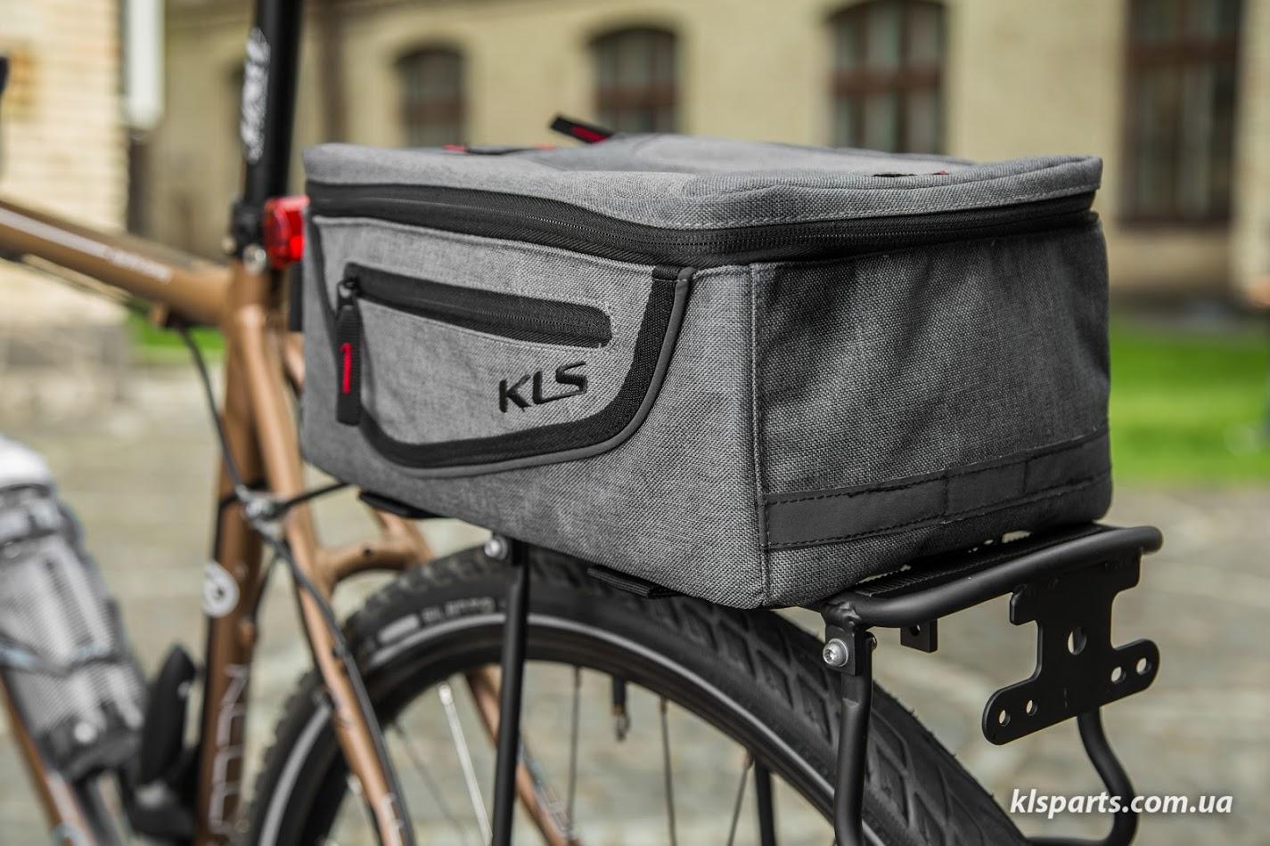 Сумка на багажник KLS Space City (об`єм 10 л) чорний