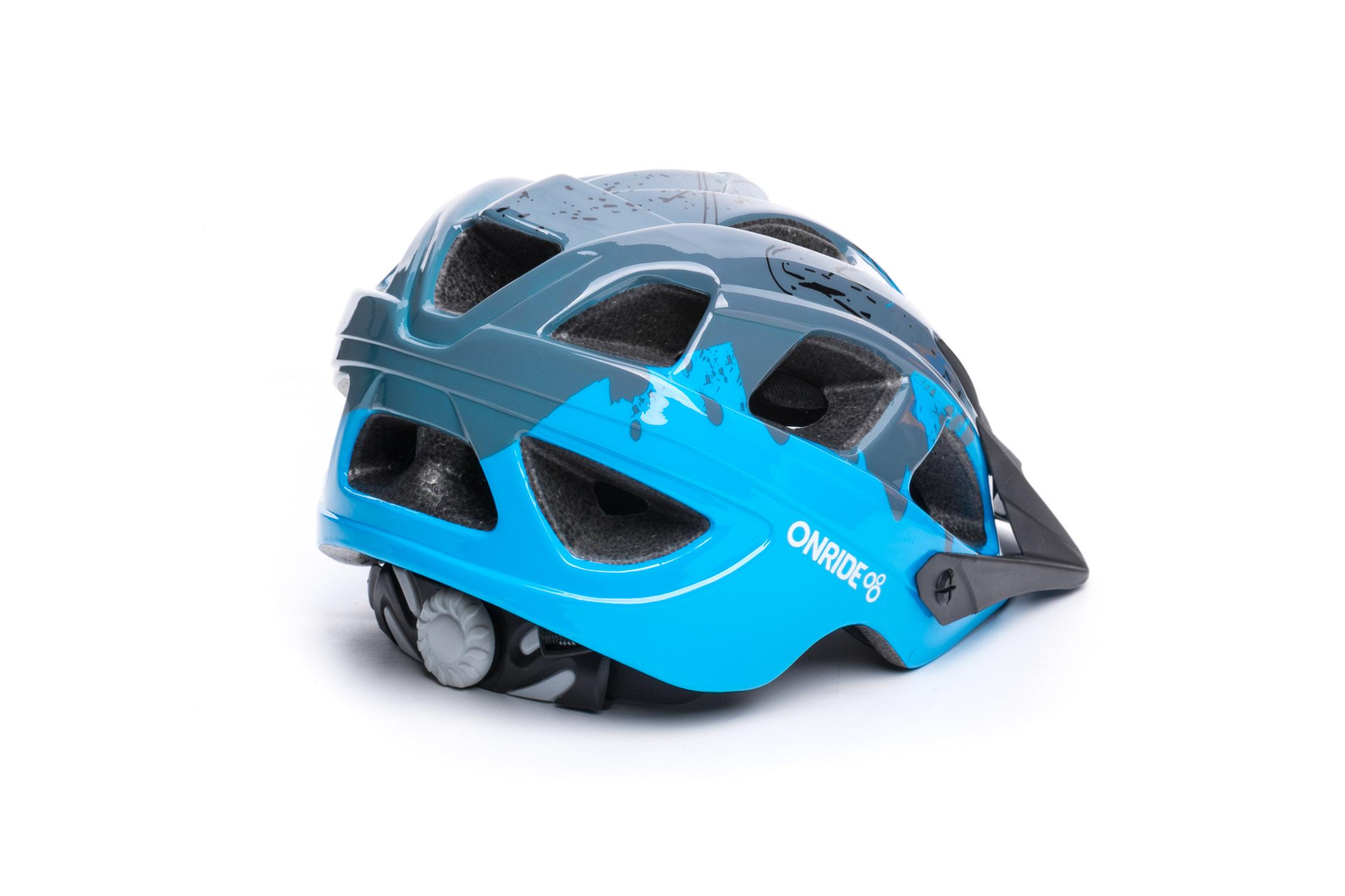 Шолом OnRide Rider глянцевий сірий/блакитний M (52-56 см)